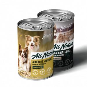 Cibo umido per cani monoproteico 400g