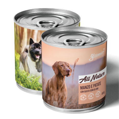 Cibo umido per cani monoproteico 800 g